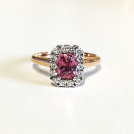Natural Ceylon Sapphire & Diamond Ring (2841)