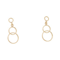 9ct Circle Drop Earrings (AIE1042)