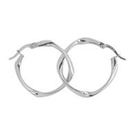 Fancy Twist Hoop Earrings (14-2010)