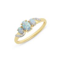 Opal & Diamond Ring (18-32)