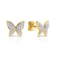Diamond Butterfly Earrings (12-596)