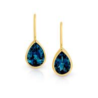 London Blue Topaz Earrings (13-1071)
