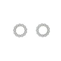 Circle Stud Earrings (14-2058)
