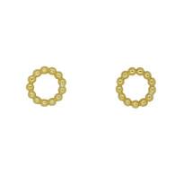 Circle Stud Earrings (14-2064)