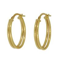 Double Hoop Earrings (14-2066)