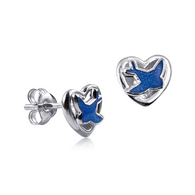 Blue Bird Earrings (24-1449)