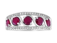 Ruby & Diamond Ring (2-1924)