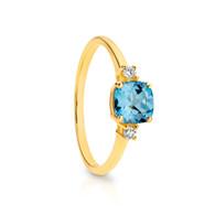 Topaz & Diamond Ring (2-1942)