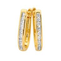 Diamond Huggie Earrings (12-435)