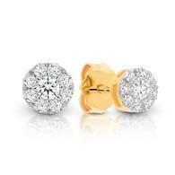 Diamond Cluster Stud Earrings (12-582)