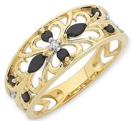 Sapphire & Diamond Ring (2-1747)
