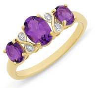 Amethyst & Diamond Ring (2-1923)