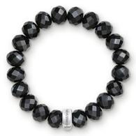 Charm Bracelet Black Obsidian (17.5cm - Large)