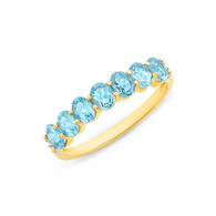 Blue Topaz & Diamond Ring (2-1930)