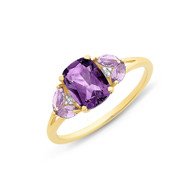 Amethyst & Diamond Ring (2-1933)