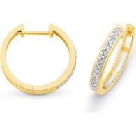Diamond Huggie Earrings (12-591)