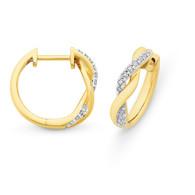 Diamond Huggie Earrings (12-592)