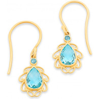 Blue Topaz Earrings (13-1061)