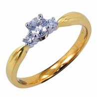 18ct Trilogy Diamond Ring (1-2754)