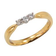 18ct Curved Diamond Ring (4-1225)