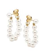 Pearl Hoop Earrings (17-1460)