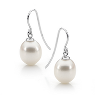 White Pearl Earrings (17-1110)