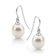 White Pearl Earrings (17-1206)