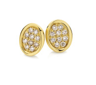 Dreamtime Australian Diamonds Oval Diamond Earrings