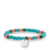 THOMAS SABO Love Bridge Sterling Silver Turquoise Bracelet