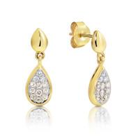 Dreamtime Australian Diamonds Pear Drop Stud Earrings