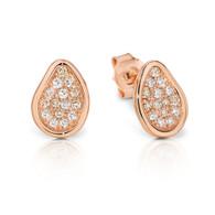 Dreamtime 9ct Rose Gold Stud Pod Earrings