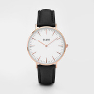 CLUSE La Boheme Rose Gold White/Black Watch