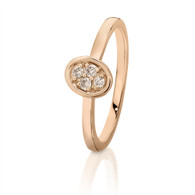 Dreamtime Australian Diamonds Rose Gold Oval Diamond Ring