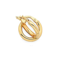 9ct Yellow Gold Hoops - small (M2142)