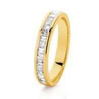 18ct Princess & Baguette Diamond Band