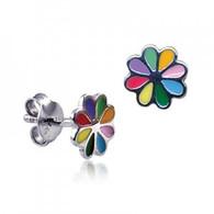 Multi Colour Flower Stud Earrings