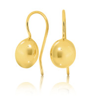 9ct yellow gold bean hook earrings
