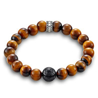 Rebel at Heart Tigers Eye & Black Obsidian Bead Bracelet