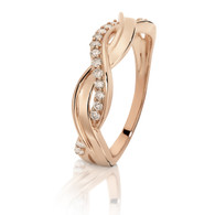 Dreamtime 9ct Rose Gold Diamond Weave Ring