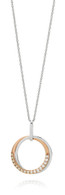 Dreamtime 9ct White & Rose Gold Diamond Interlocking Circles pendant