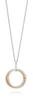 Dreamtime 9ct White & Rose Gold Diamond Interlocking Circles pendant