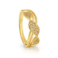 Dreamtime Diamond Ribbon ring