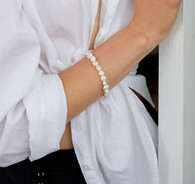 Small Keshi Baroque Freshwater Pearl Bracelet - White 7.5-8.5mm