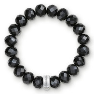 Charm Bracelet Black Obsidian (medium)