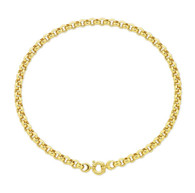 9ct yellow gold silver filled 45cm belcher chain (15-02638)