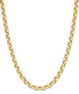 9ct yellow gold silver filled 50cm belcher chain (15-02730)