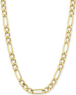 9ct yellow gold silver filled figaro (1+3) 50cm chain