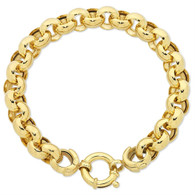 9ct yellow gold silver filled belcher bracelet (11-01964)