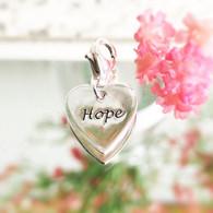 Hope heart charm