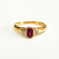 9ct Ruby & Diamond ring (1886)